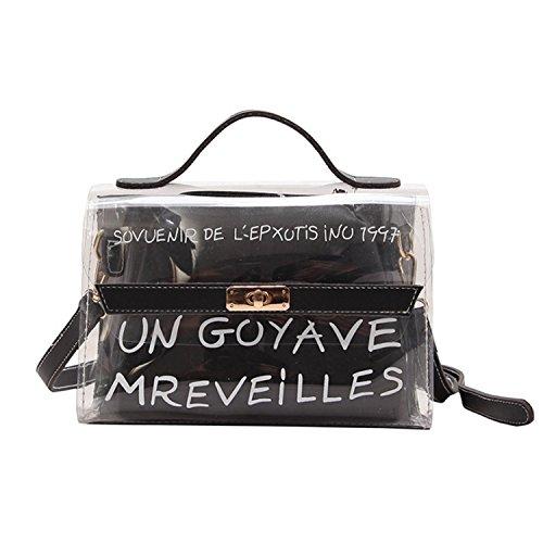 Dream3. Art und Weisedame-Schulterbeutel-transparenter Druck Nette Mädchen Handtasche Dame Elegante Dame transparente Handtasche, PVC ()