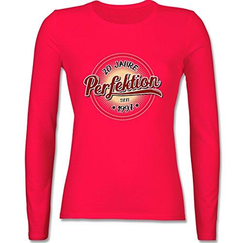 Geburtstag - 20 Jahre Perfektion seit 1997 - tailliertes Longsleeve / langärmeliges T-Shirt für Damen Rot