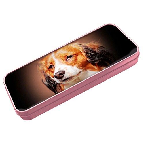 Pink Nederlandse Kooikerhondje Hund Stiftedose 065 (Kooikerhondje Hunde)
