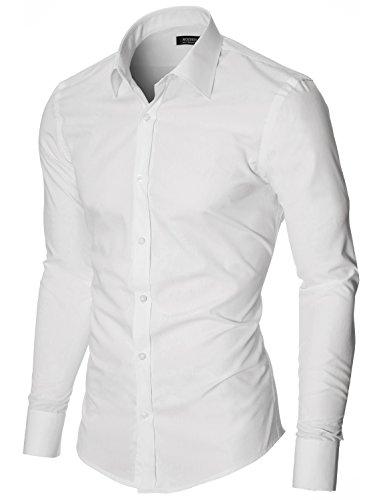 MODERNO Hemd Herren Slim Fit Business Langarm von (MOD1426LS) Weiß