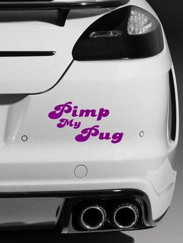 Sign Honda Car (Pimp My Mops, Qualität Vinyl JDM lustiger Auto-Aufkleber/Aufkleber (violett))