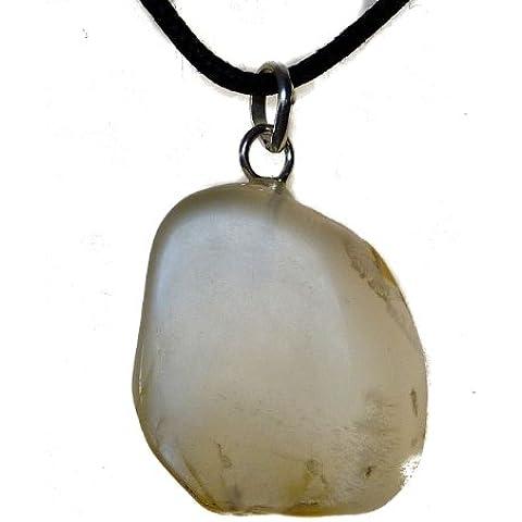 TF-tumbled pietre: Pietra di luna con occhielli e fiocco, silver. sterling 925