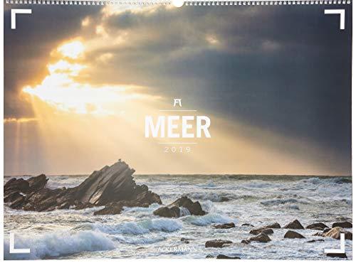 Meer - Ackermann Gallery 2019, Wandkalender im Querformat (66x50 cm) - Großformat-Kalender / Hochwertiger Panorama-Kalender mit Monatskalendarium