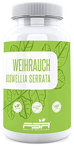 h15 weihrauch kapseln Weihrauch hochdosiert 120 Kapseln, 500 mg Boswellia serrata Extrakt davon 325 mg Boswellia Säuren je veganer Kapsel ohne Zusätze - von der Profisport-Marke FSA Nutrition, Hergestellt in Deutschland