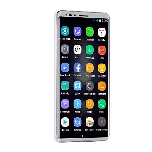 Oasics Smartphone, Neue Art und Weise 5,72 Zoll Doppel-HDCamera Smartphone androider IPS-Schirm GSM/WCDMA 16GB Touch Screen WiFi Bluetooth GPS 3G Anruf-Handy (Weiß)