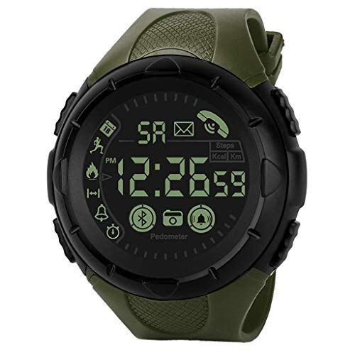 YEARNLY Herren Digital Sport Uhren,Wasserdicht IP67 Smartwatch, Outdoor Wasserdichte Armbanduhr, LED Licht Digitaluhren für Herren (Mk Rose Gold-männer Uhren)