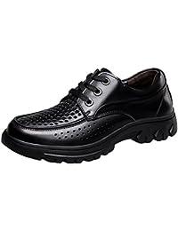 SK Studio Mocassins pour Hommes Cuir Loafers Chaussures de Conduite Noir  Grande Taille Bateau Chaussure à 2688fb7b7378