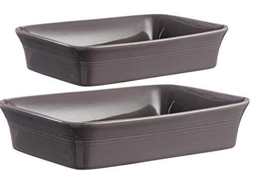 Mason Cash Lot de 2 grandes rectangle Plat à Four en gris foncé plaque de cuisson