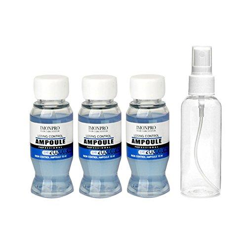 Imonpro Haar Ampullen Losing Control 3 X 15ml mit Spray Flasche - Thinning Haarausfall Behandlung Versorgung Vitalität zu Follikel, Wurzel, Kopfhaut und 9 pflanzliche botanische Zutaten