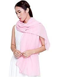 Sanwood® Women's Cotton Linen Wrap Scarf Shawl Solid Color Stole