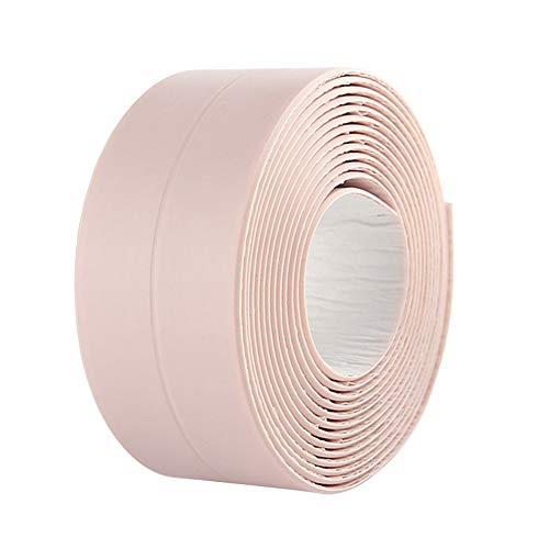BingQing Brand Tira de masilla para tina y pared. Cinta adhesiva de sellado de pared para baño, resistente al agua, autoadhesiva, decorativa, de Kitchen Caulk, rosa
