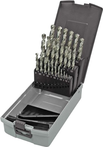 KEIL 302 501 113 Metallbohrersortiment HSS DIN 338 geschliffen, Split Point, 25-teilig  Ø 1,0-13,0 mm um 0,5 mm steigend, in RoseBox