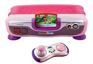 VTech - 80-078854 - V.Smile Motion Console éducative rose avec jeu Dora - Langue : allemand