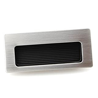 85mmX38.5mm eric Drawer Pull Square Stainless Steel Flush Recessed Handle Satin