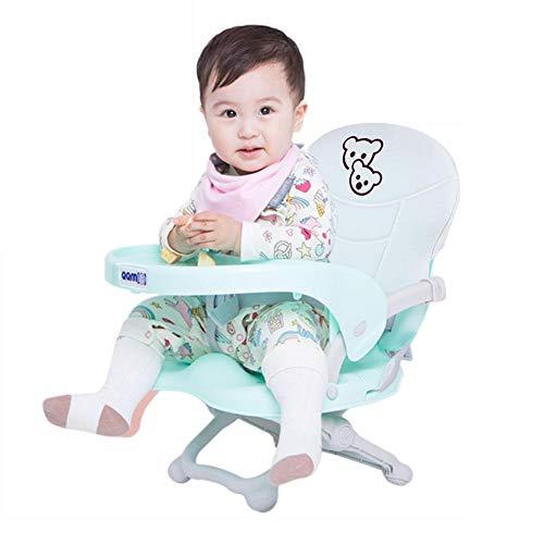 iBaste Portable Kinder Esszimmerstuhl Baby Essen Stuhl Multi Funktion Einstellbare Höhe Snack Booster Sitz Outdoor Baby Tischsitz mit Kissen für Home Travel Camping (Portable Hochstuhl Sitzerhöhung)