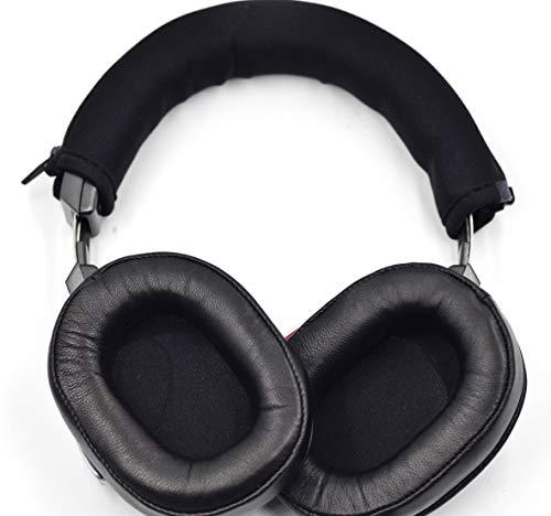 Casque de Rechange en Cuir véritable de qualité supérieure pour Casque Audio-Technica ATH-MSR7NC SonicPro avec Suppression Active du Bruit