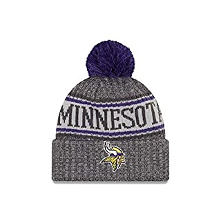 New Era Minnesota Vikings Beanie NFL 2018 Sideline Sport Graphite Knit Purple/Grey - One-Size
