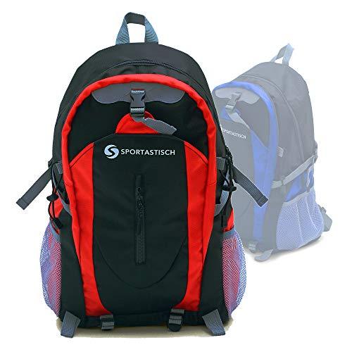 """Sportastisch AUSGEZEICHNETER¹ Tagesrucksack """"Sporty Backpack""""   ROT   30L Rucksack für die Freizeit, Wandern, Sport oder Schule   Multi-Pocket-Design   Bis zu 3 Jahre Garantie²"""