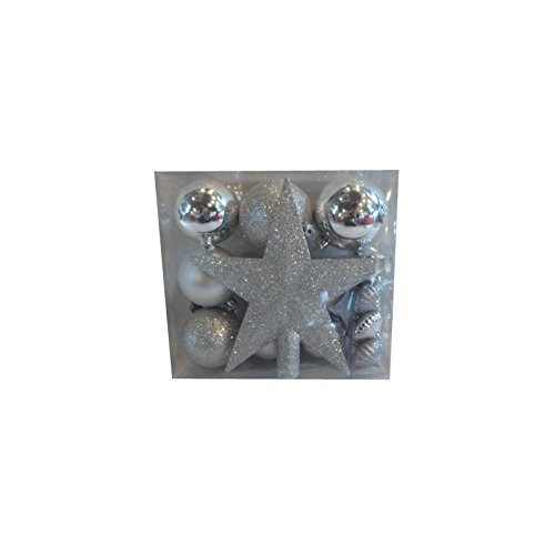 Kit 18 décorations de sapin - Boule de noël et cimier