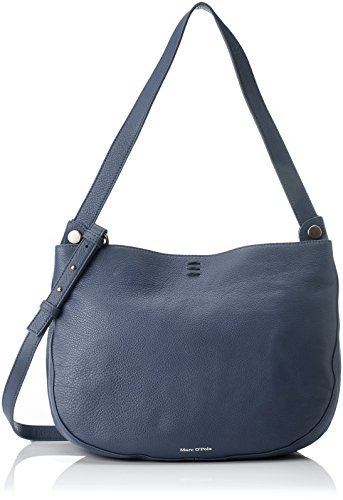 Marc O'Polo Damen Hobo Schultertasche, Blau (Navy), 15x50x36 cm (Damen-handtaschen-polo)
