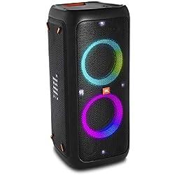 JBL PartyBox 300 - Enceinte Bluetooth portable de soirée avec effets lumineux - Prise USB & entrée jack pour guitare ou micro - Autonomie 18hrs - Noir