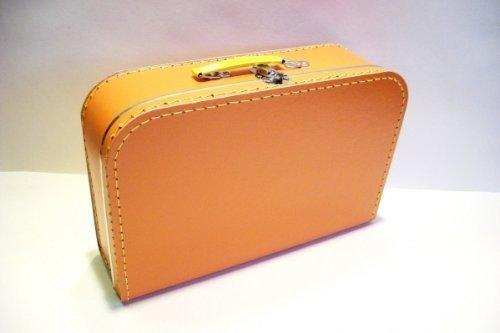Koffer Pappe,orange, groß, 35cm, Pappkoffer