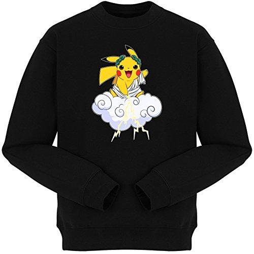 Pull Manga - Parodie de Pikachu de Pokémon Style Thunder God - Le Dieu du Tonerre :) - Pull Noir - Haute Qualité (811) Noir