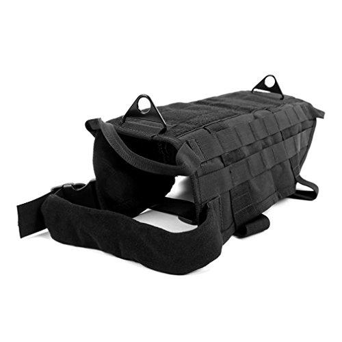YCDC schwarz L Tactical Outdoor Militär Hund Kleidung Vest Training Load Bearing Harness