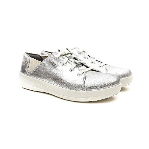Argento Di Fitflop Sneakers Lacci F-sportive Silver