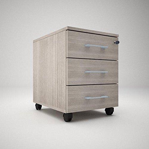 Time cassettiera ufficio 3 cassetti su ruote l.43 x p.54 x h.59 (rovere scuro)