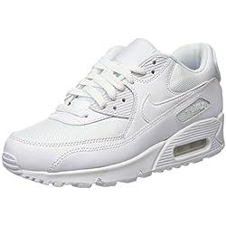 Nike Air Max 90 Essential - Zapatillas de running, Hombre, Blanco (White / White-White-White), 42 1/2