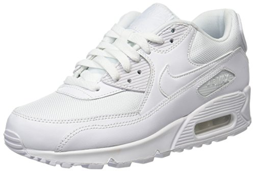Nike Air Max 90 Essential, Baskets Homme, Blanc (White), 43 EU