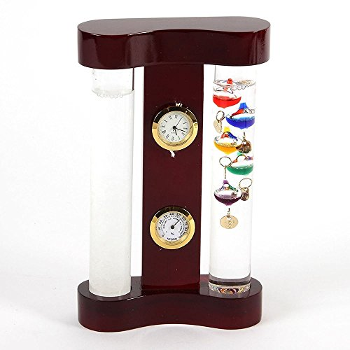 Galileo-thermometer 11 (Galileo Thermometer Storm & Storm Display Glas 18 cm)