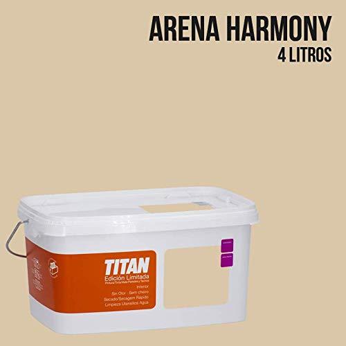 Pintura Colores Titan Edición Limitada - Arena Harmony 4 L