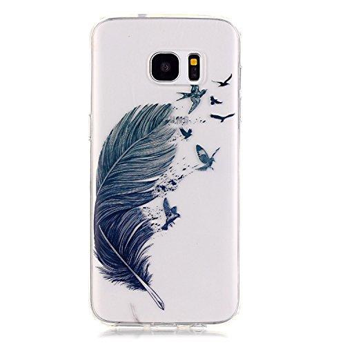 Sunroyal® Custodia per Samsung Galaxy S7 Edge G9350 SM-G935 Protettiva Cover Universale di Ultra Sottile TPU Morbido Antigraffio Trasparente Cristallo Chiaro e Shock-Absorption Bumper Case Posteriore  Modello 15