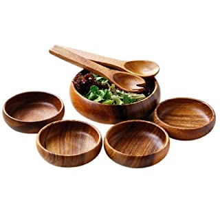 Premier Housewares Monkey Pod Salad Set - 7 Pieces
