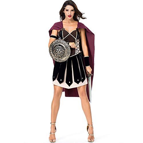 COSOER Spartanisches Weibliches Krieger-Cosplay-Kostüm Alte Römische - Römische Kostüm Weiblich