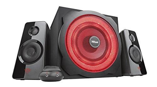 Trust GXT 4628 Thunder 2.1 Lautsprechersystem (mit Subwoofer und LED-Beleuchtung, 120 Watt)