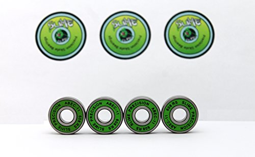 4-x-green-slime-abec-11-608-rs-water-resistant-rubber-seal-skateboard-stunt-scooter-inline-skate-fid