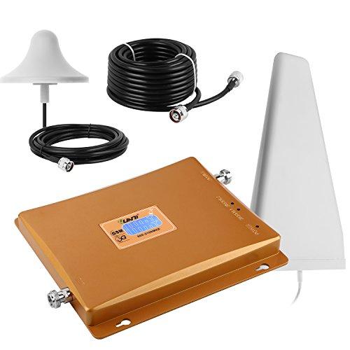 Yuanj Signalverstärker-/Repeater-Set für GSM, UMTS, 3G Repeater Booster Verstärker and Handy Vodafone T-Mobile + starke Außenantenne + starke Omni Innenantenne + 10 Meter Kabel