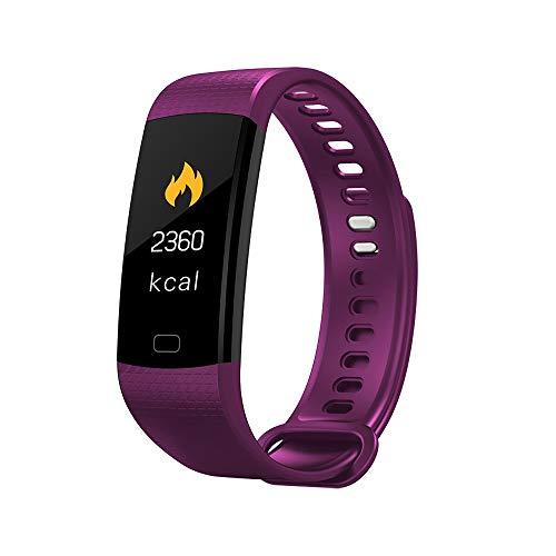 Douerye Smart Hand Ring Screen Herzfrequenz Bluthochdruck Gesundheitsüberwachung Bluetooth Motion Armband,Purple