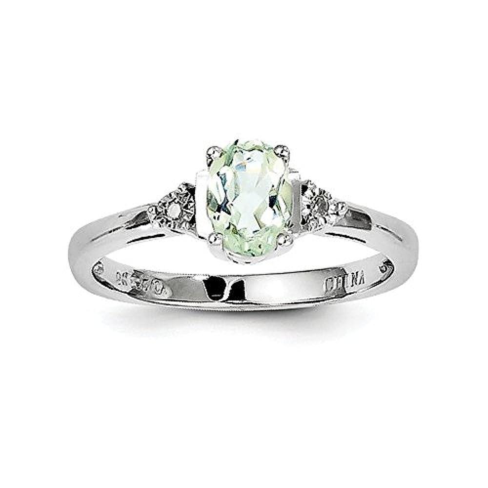 JewelryWeb - 925 Sterling-Silber Sterling-Silber 925 Rundschliff Leicht Getöntes Weiß/Top Crystal (I) Améthyste Diamant