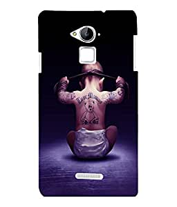 printtech Cool Kid Love Mommy Back Case Cover for COOLPAD NOTE 3 / COOLPAD NOTE 3 PLUS