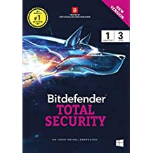 BitDefender Total Security Latest Version (Windows) - 1 User, 3 Years (Activation Key Card)