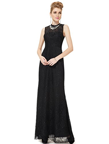 Ever Pretty Robe de cocktail longue noir lace noble 08211 Noir