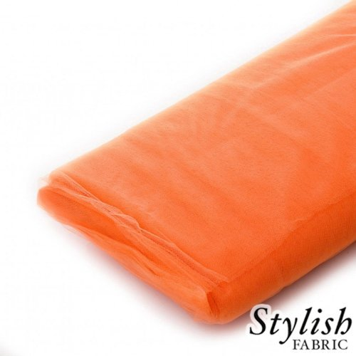 Dark Orange Tulle Fabric - 40 Yards Per Bolt by Stylishfabric - Tessuto Di Tulle Bolt