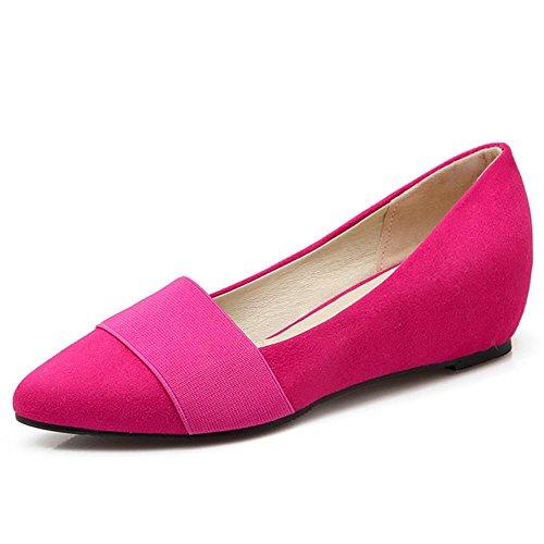 COOLCEPT Ladies Fashion Elastic Dolly Shoes Maedchen Schule Dress Comfy Niedrige Pumps (35 EU, Black)