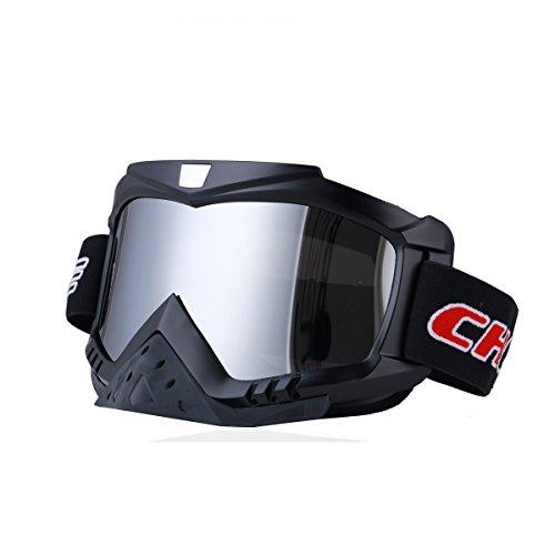 Madbike Motorrad-Motocross-Schutzbrillen Outdoor-Sport Dirt Bike ATV MX Off-Road-Schutzbrillen (silver)