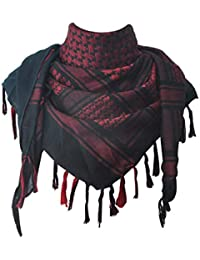 JONKUU® Écharpe Chale 100% Coton Chaud Hiver Mode Desert Keffieh  Palestinien Foulard 110x110 cm a99f38963ae