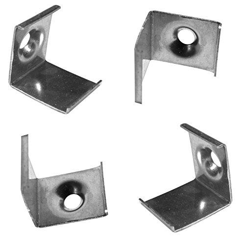 Alumino® Profilé LED en aluminium angle rond avec cache opale/semi-transparent/transparent Longueur 200/150/100/50 cm, fer, x4 Montage-Clips